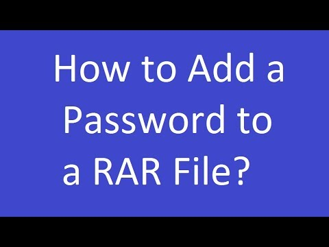 How to Add a Password to a RAR File in Windows?