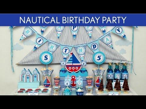 Nautical Birthday Party Ideas // Nautical - B23