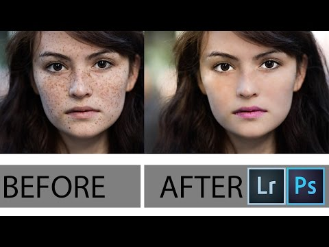lightroom online : How to Smooth Skin and Remove Blemishes & Scars & pimples & eye darkness