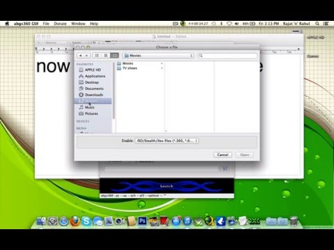 How to use abgx360 on a mac