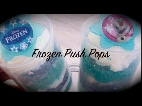 How to Make Disney Frozen Cake Push Pops!