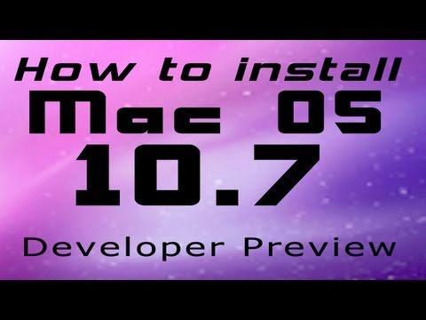 How to Install Mac OS X Lion 10.7 [Developer Preview] (FREE)