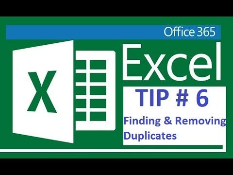 Excel 365 - Finding & Removing duplicates