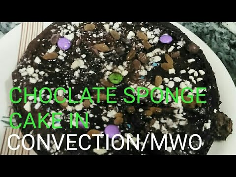 CHOCLATE EGGLESS SPONGE CAKE IN CONVECTION/MICROWAVE
