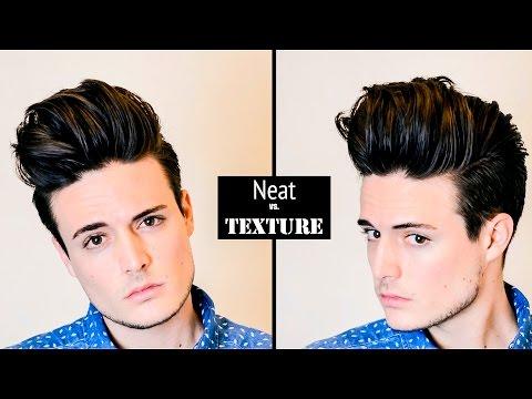 Mens Hairstyle/Hair Tutorial | Huge Volume Quiff - Neat vs. Textured