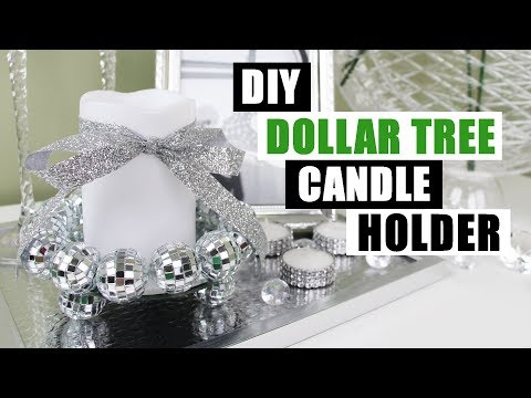 DIY DOLLAR TREE BLING CANDLE HOLDER DIY Glam Home Decor