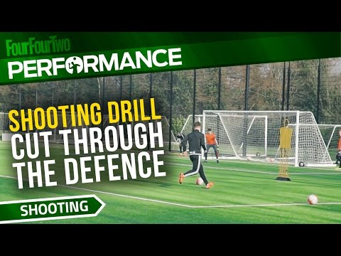 Soccer shooting exercise   Cut through the defence drill   Swansea City Academy