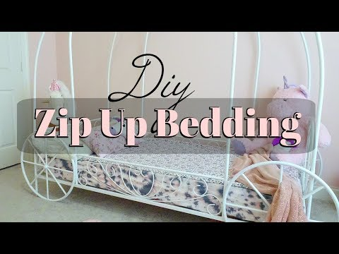 Diy Zip Up Bedding | TWIN SIZE | using already made sheet & blanket