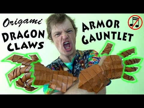 Origami Gauntlet Part 1: Dragon Claws