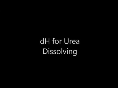 dH experiment and calculation Urea