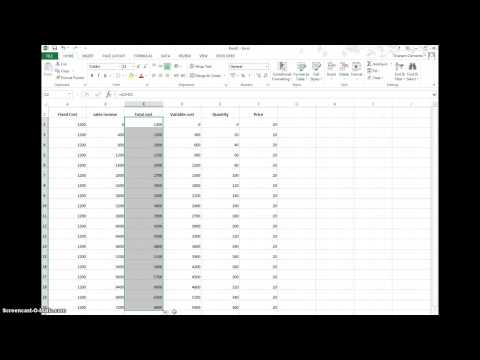 How to produce a break even chart in Excel by Graham