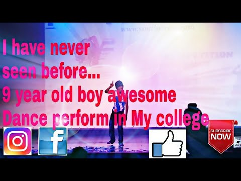 What a dance || 9 year old boy Awesome Dance in my college|| ❤ By Sourav Debbarma
