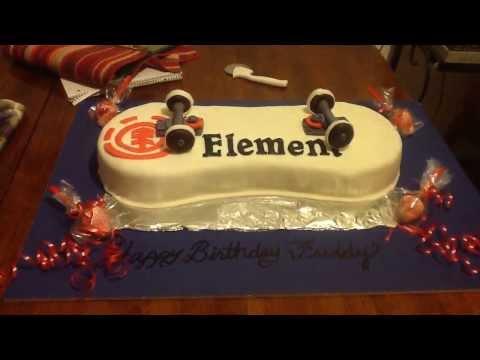 Element skateboard cake