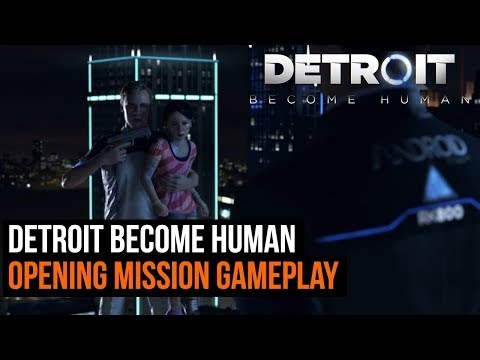 Detroit Become Human - Opening mission gameplay