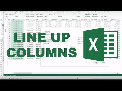 How to combine tables with different columns in excel?