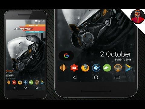 Nova Launcher New Home Screen Setup (Mecha Beast)