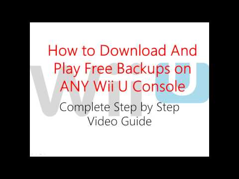 How to Download and Play Free Wii U Games Backups on ANY Wii U with 1 Click Soft Mod Loadiine