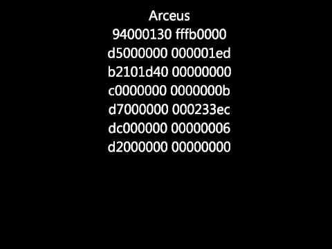 Action Replay DSi Code: Arceus