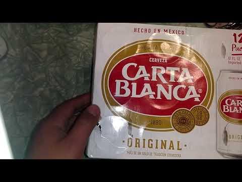 Carta Blanca in a can