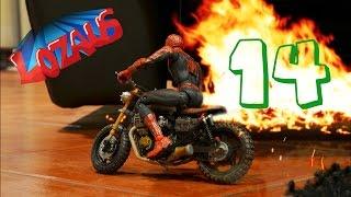 Spiderman Stop Motion Part 14 With Superheroes Ironman Mark 42, Ironman Mark 45 & Hulk