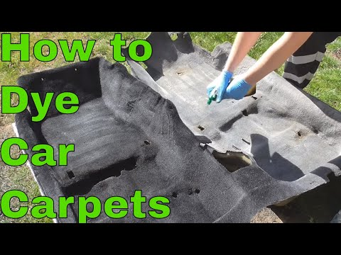 How to Dye Your Carpets Black!
