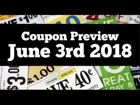 Coupon Insert Preview for Sunday June 3rd 2018