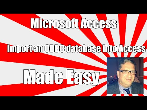 How to Import an ODBC Database into Access - Access 2003, 2010, 2013, 2016 Tutorial