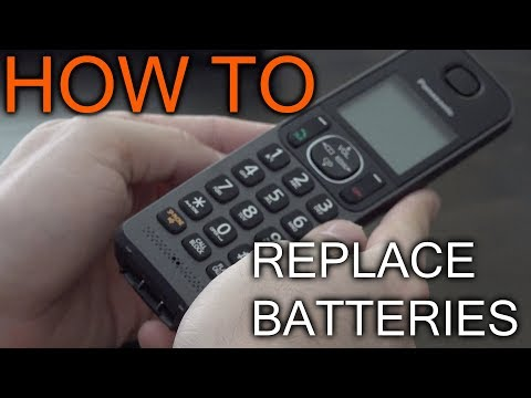 How to replace batteries in Panasonic Handset telephone