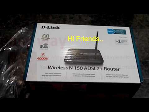D-Link Modem/Router Wi-Fi Configuration[wi-fi Password Set/Change], Wireless N 150 ADSL2+Router - 1