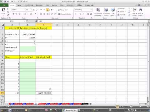 Excel Finance Class 41: Interest Only Loan Schedule.