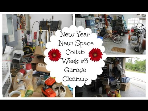 New Year New Space Collab || Garage Clean Up!