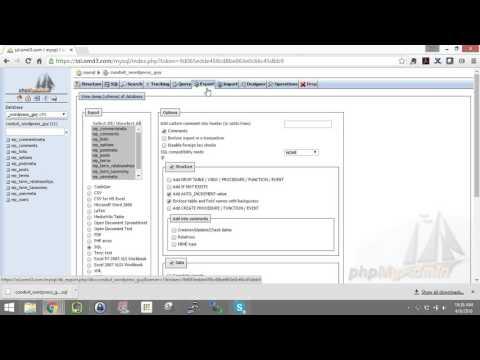 Backing Up WordPress MySQL Database with PHPMyAdmin