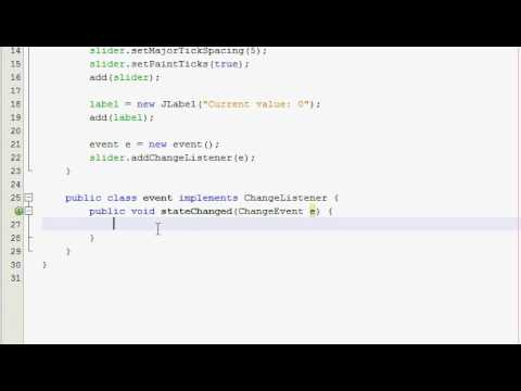 Java GUI Tutorial 20 - JSlider