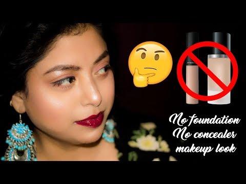 How To Do No Foundation, No Concealer, No BB Cream Makeup Look Tutorial | For Summer | Indian Makeup