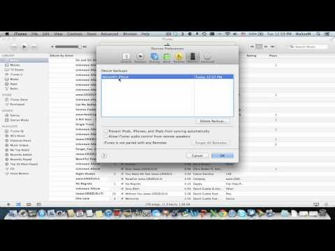 How to delete a backup from iTunes