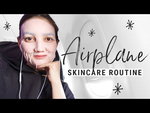 my IN-FLIGHT skincare routine!