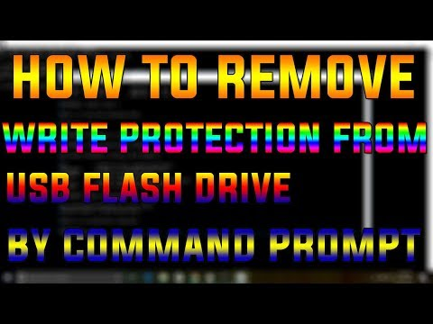 How To Remove Write Protection From USB Flash Drive From Command Prompt (2017-2018)