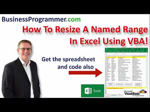 How To Resize A Named Range In Excel VBA