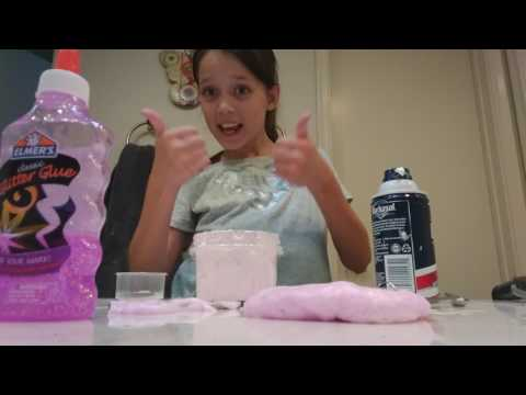 Pink glitter glue fluffy slime tutorial!