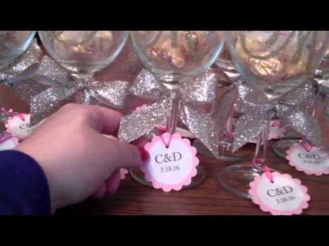 Bridal Shower Diy Wine glass Idea