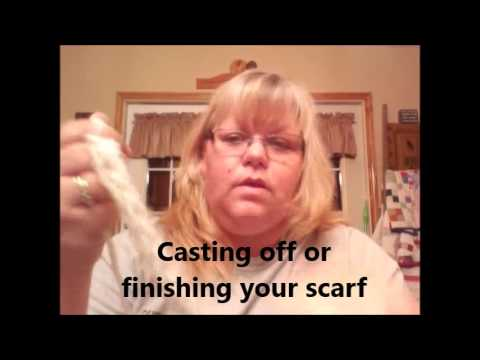 Two finger knitting scarf tutorial Mando