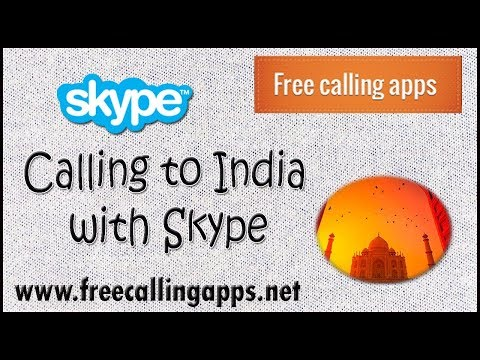 Calling to India with Skype