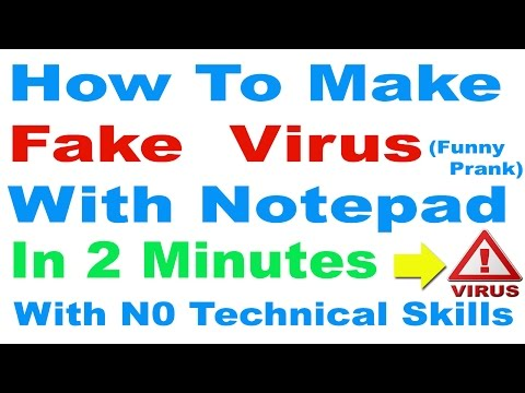 How To Make Fake (Funny)  Computer Virus With Notepad in Hindi/Urdu