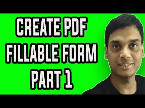 How To Create A Fillable PDF Form PART 1 | Make pdf form  easily | Hindi