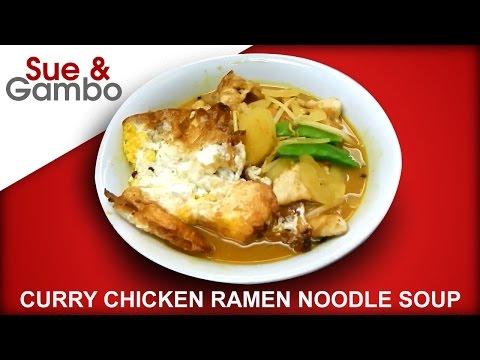 Curry Chicken Ramen Noodle Soup