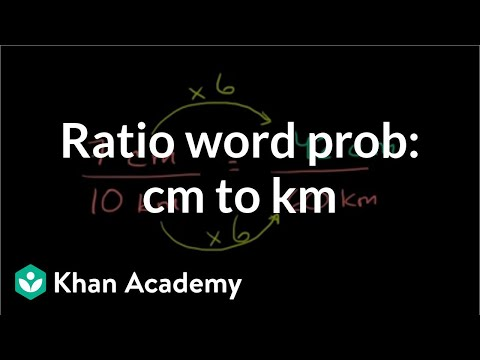 Ratio word problem: centimeters to kilometers | Pre-Algebra | Khan Academy