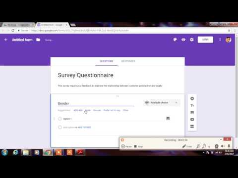 How to create online Questionnaire