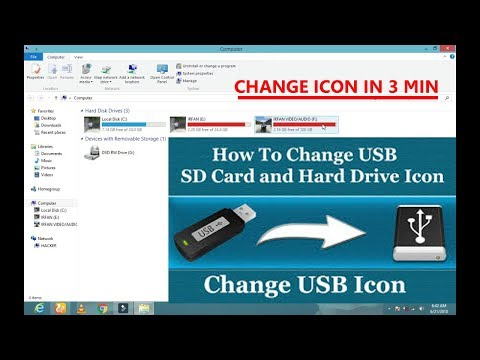 How to change icon of Pen drive, memory card, Hard drive partition cool trick 2018 || GB TECHNICALS