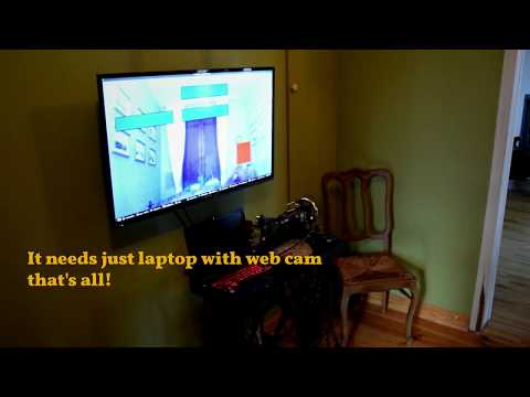 Homemade video game with face detection via web cam (AR)