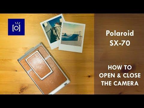 Polaroid SX-70 - How To Open & Close The Camera
